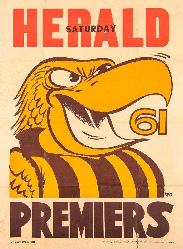 HAWTHORN: 1961 original Weg poster.