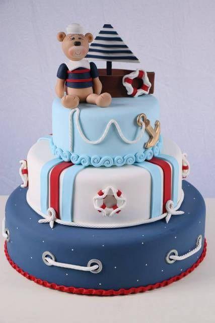 ideia para bolo de festa ursinho marinheiro