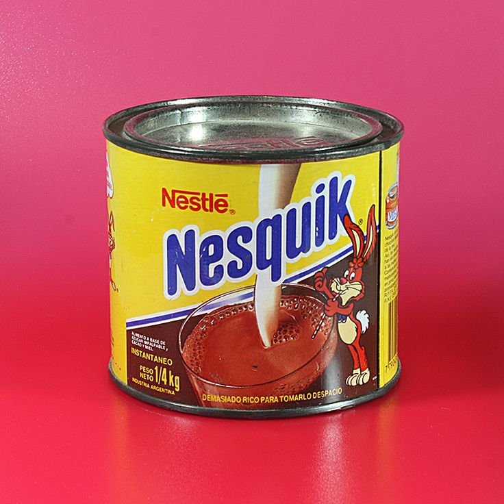 Lata de Nesquik, año 1991