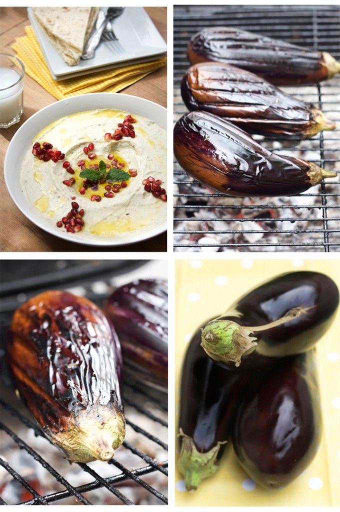 Baba Ghanouj, Lebanese eggplant and tahini dip, one of my fave foods!