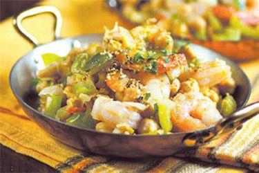 Gambas con garbanzos (Spanish prawns with chickpeas) – Recipes – Bite