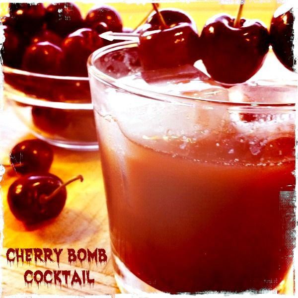 Cherry Bomb Cocktail. This is really the Bomb. #Cherry #Cocktail #drinks