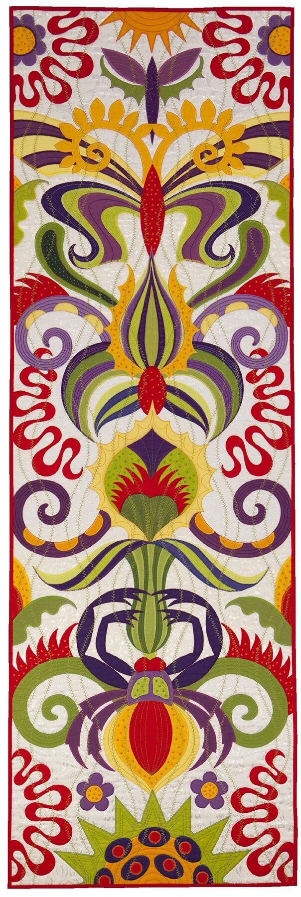 """Life Totem"" by Jane Sassaman | Chicago Quilt Festival"