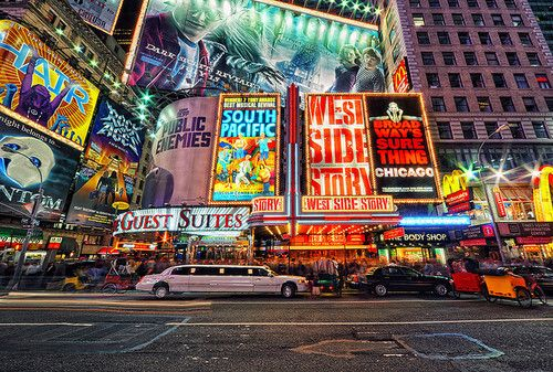 new york, light, and city-bild