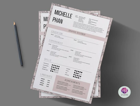17 best images about floral cv    resume templates on pinterest