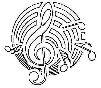 houslový klíč, hudba, music - motiv potisk, tričko omalovánka, fixy na textil ( antistresová omalovánka) T-ART.CZ