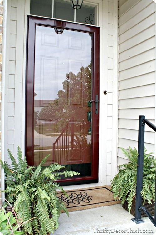 This larson door added light to thirftydecorchick 39 s home for All glass storm door