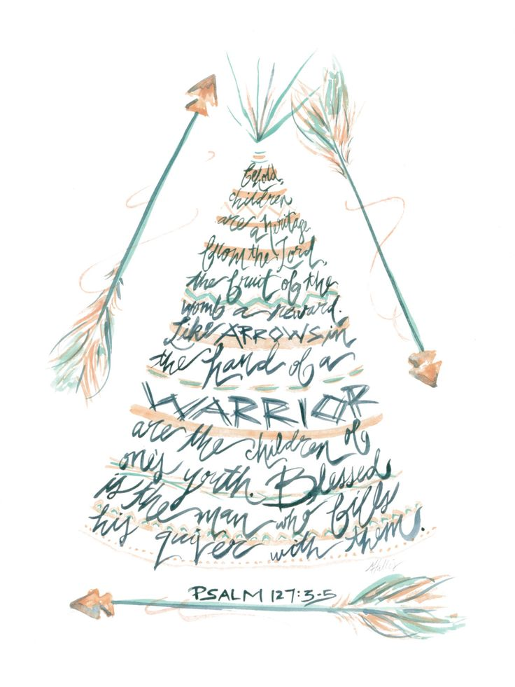Like Arrows in the Hands of a Warrior - Psalm 127:3-5 - Watercolor painting - Fine art print - Giclee - 11x14 by MalloryHopeDesigns on Etsy https://www.etsy.com/listing/234175879/like-arrows-in-the-hands-of-a-warrior