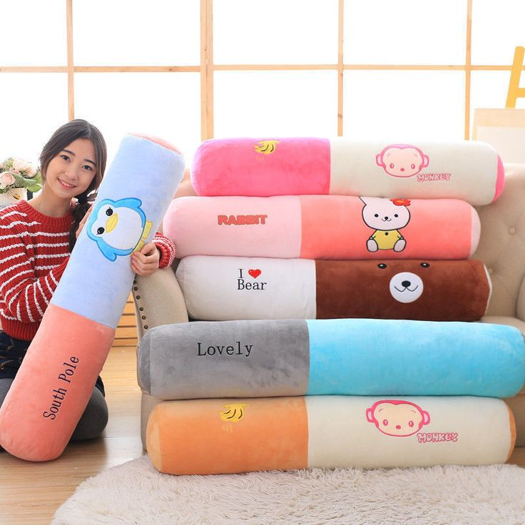 Cute Washable Cylinder Pillow Animal Printing Cushion Throw Pillow 65Cm 95Cm 1Pc