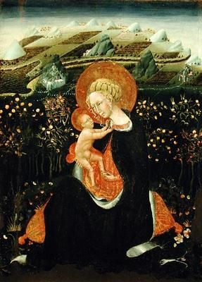 Giovanni  di Paolo di Grazia - Madonna of Humility, c.1450-60 (tempera on panel)