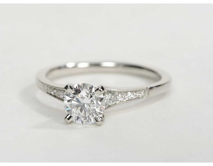 0.82 Carat Diamond Graduated Milgrain Diamond Engagement Ring | Recently Purchased | Blue Nile