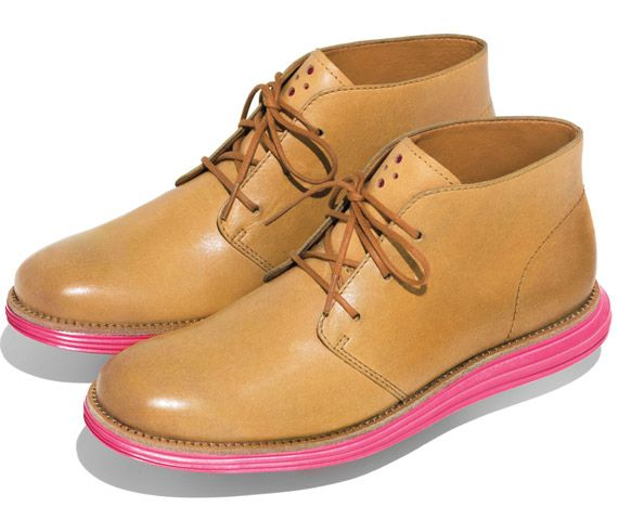 Cole Haan LunarGrand Chukka - Pink and Yellow Shoes - Highsnobiety