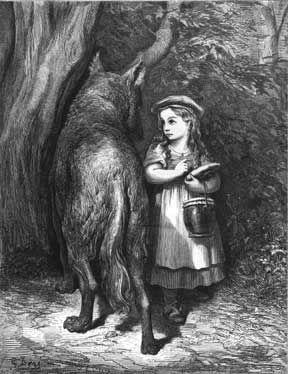 Little Red Riding Hood    Gustave Doré    Les Contes de Perrault, dessins par Gustave Doré