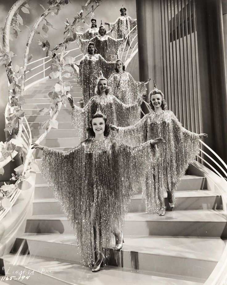 "Judy Garland and ziegfeld dancers in ""Ziegfeld Girl"" 1941 One of the funniest parts is where Gallagher and Shean do their skit.  They are the pair the Sunshine Boys was based on."