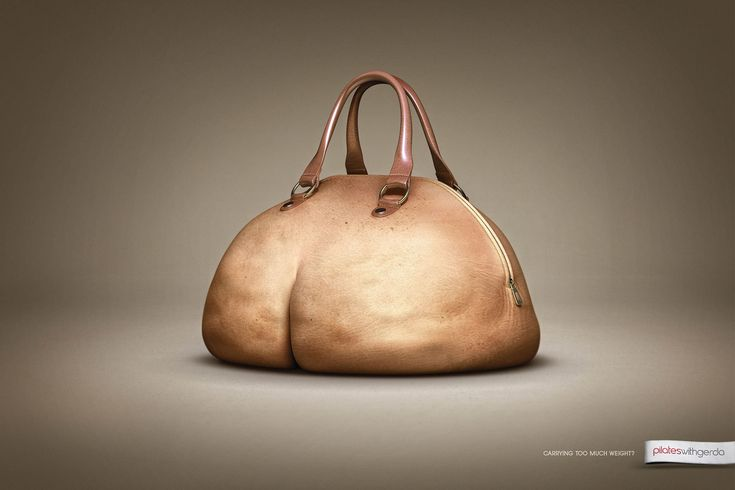Carrying too much weight? Ad for pilates classes, brilliant!