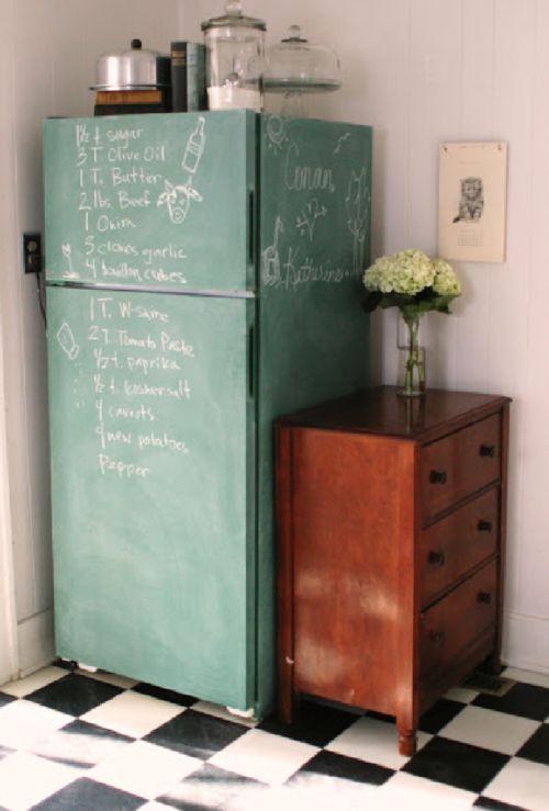 - DIY inspo: chalkboard fridge -