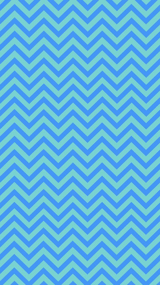 Blue & Turquoise Chevron iPhone Wallpaper