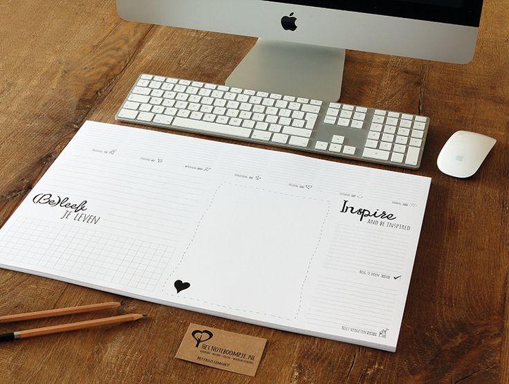 Het Noteboompje Stationery Bureaulegger Weekplanner Office Zwart Wit