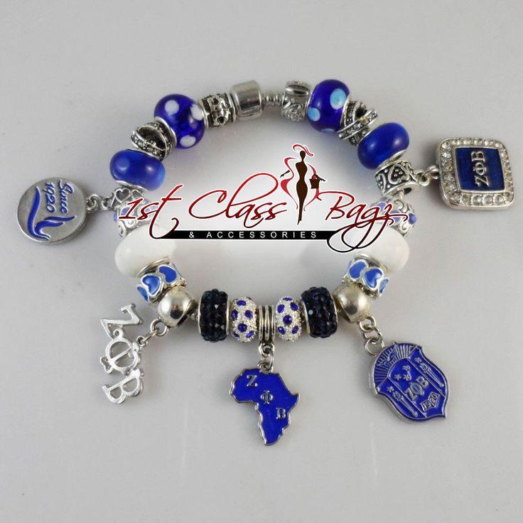 Zeta Phi beta charm bracelet by KrystylesBoutique on Etsy https://www.etsy.com/listing/254253045/zeta-phi-beta-charm-bracelet