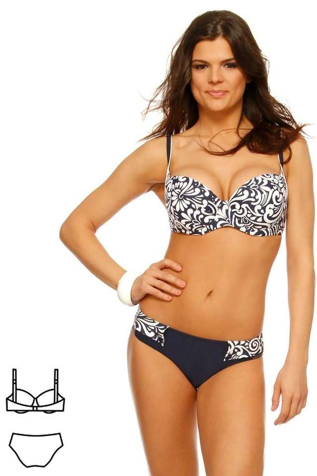 Bahama kék virágos bikini