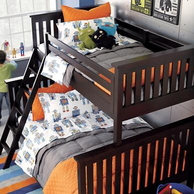 Ashton's bed set and room theme from Land of Nod.. And a similar bunk bed to the one we are getting him. Now I need another bed set!