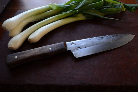 75 HandForged Custom Chef's Knife by RedForgeworks on Etsy, $290.00