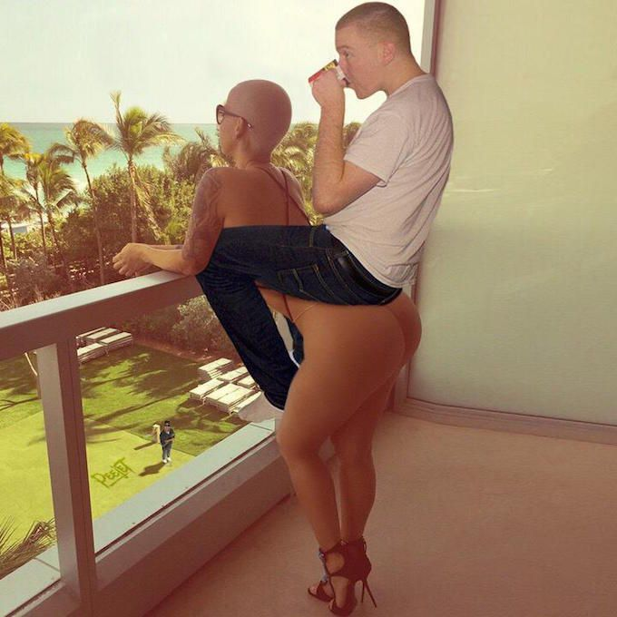 Photoshop Genius PeejeT Adds Himself to Amber Rose's Hot Balcony Pics and Gives a Tutorial | Complex