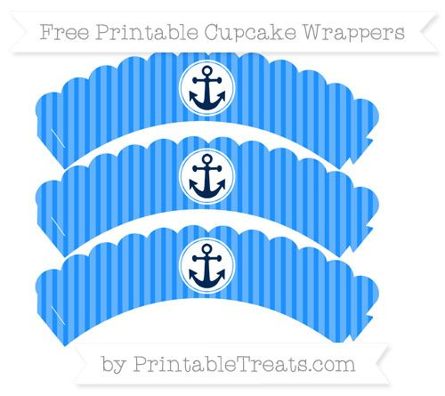 Printable Anchor Cupcake Wrappers