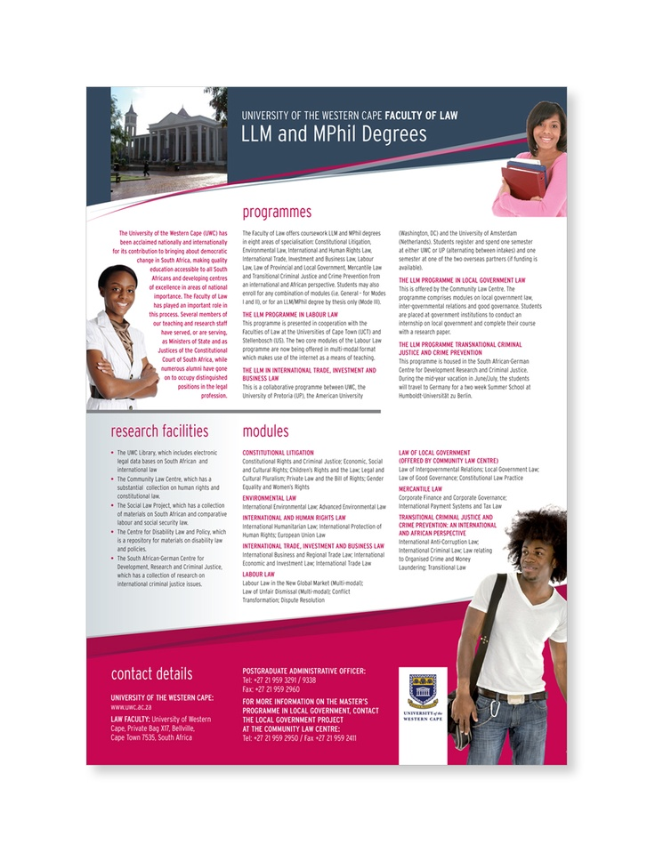 University of the Western Cape poster