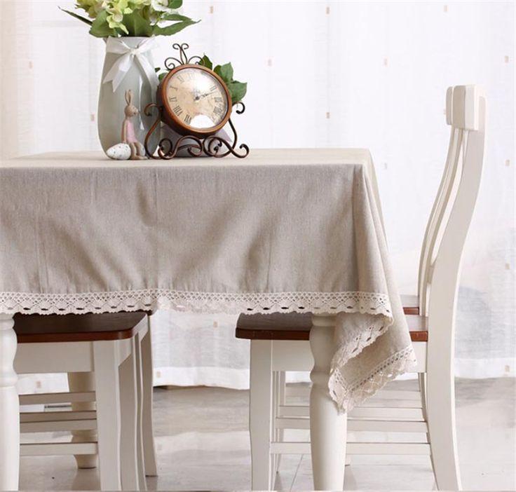 Solide Couleur Simple Nappe En Lin de Haute Qualité Japon Stlye Nappe pour Restaurant Livraison Gratuite
