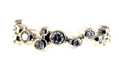 White gold diamond bubble eterity ring