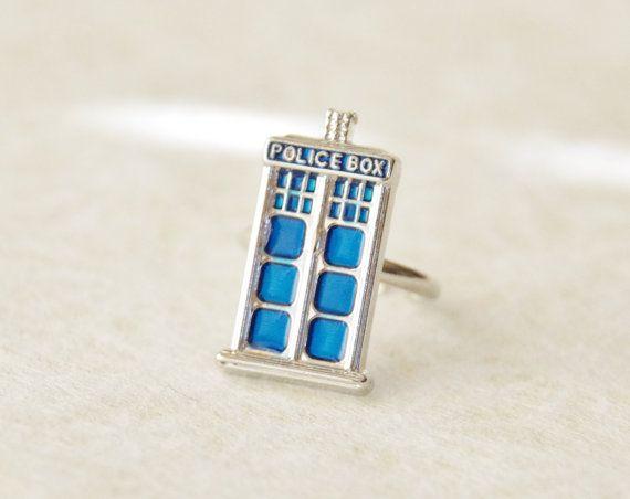 Tardis Ring / Tardis Jewelry / Doctor Who by SmittenKittenKendall