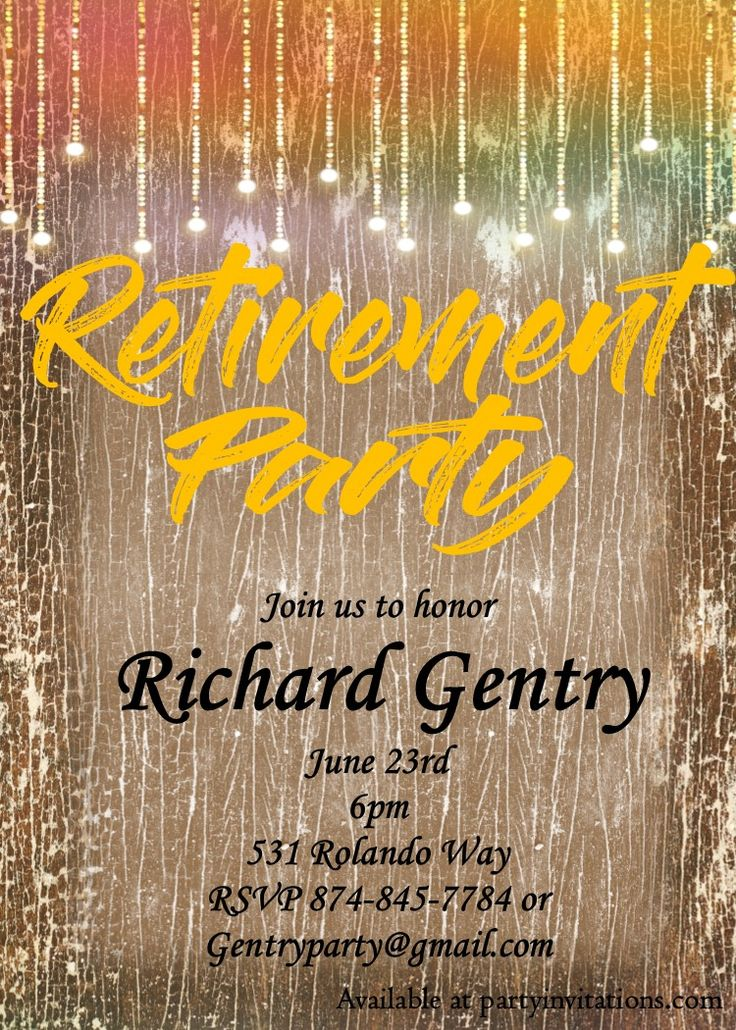 free invitation templates for going away party%0A Retirement party invitations custom designed New for winter