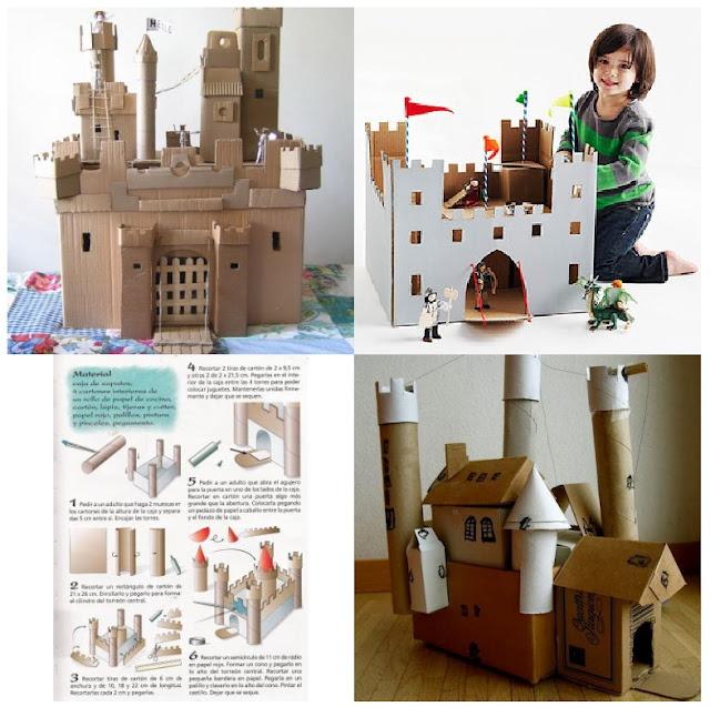 Un castillo de cartón
