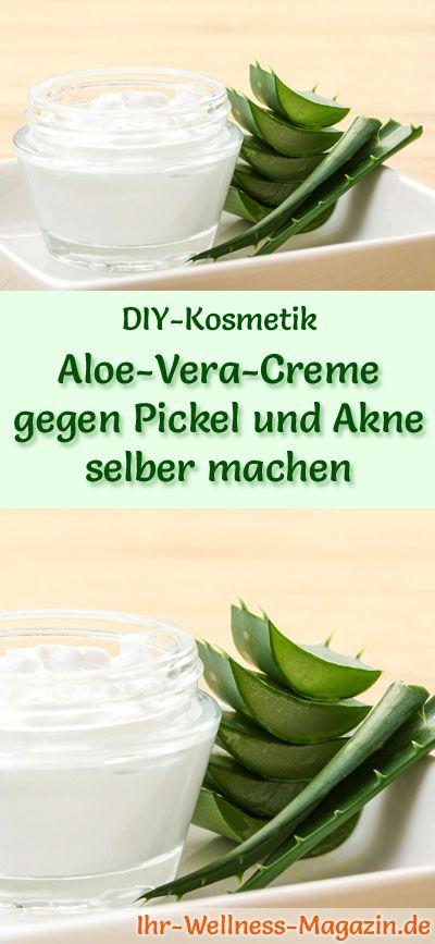 Aloe Vera Creme gegen Pickel und Akne selber machen – Rezept & Anleitung