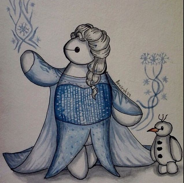 Frozen and big hero 6. Love this! My two favorite moves combined to make something hilarious.