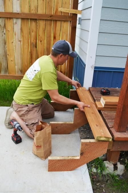 DIY. Easy Stairs. How to build stairs! Free step by step ...
