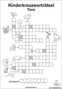 Kinderkreuzworträtsel