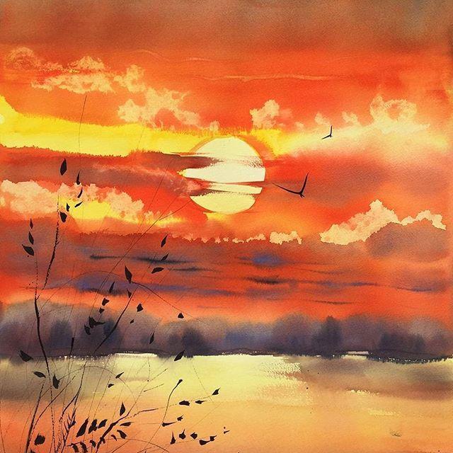 Wasserfarben Landschaften Bild Von Valle X123 Auf Art Aquarelle