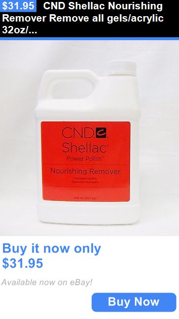 Nail Polish Remover: Cnd Shellac Nourishing Remover Remove All Gels/Acrylic 32Oz/946Ml ~2Ct~ BUY IT NOW ONLY: $31.95