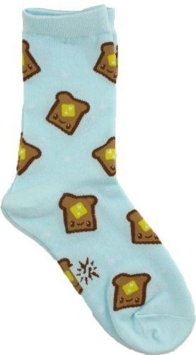 Sock It To Me Toast Light Blue Women's Crew Socks Sock It To Me. $8.81