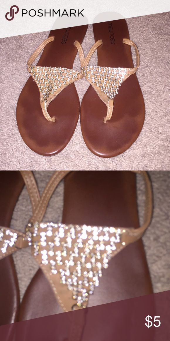 Dressy flip flops Sparkly. Work a few times Shoes Sandals