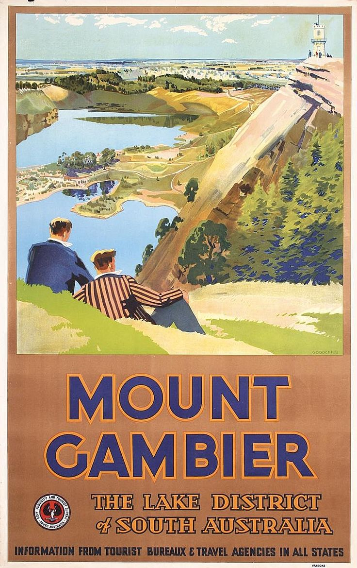Mount Gambier Travel Poster