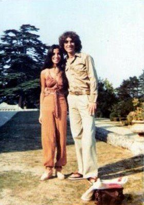 Olivia Arias-Harrison and George Harrison (at Friar Park)