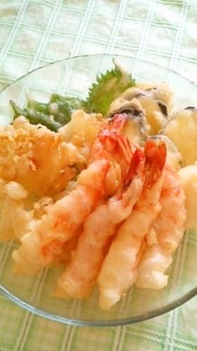 カラリと揚がってさくさく衣の天ぷら by AyakoOOOOO [クックパッド] 簡単おいしいみんなのレシピが138万品
