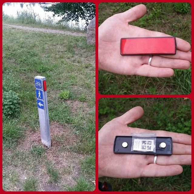 Reflector geocache.  Have you ever found a camo cache like this?  #IBGCp