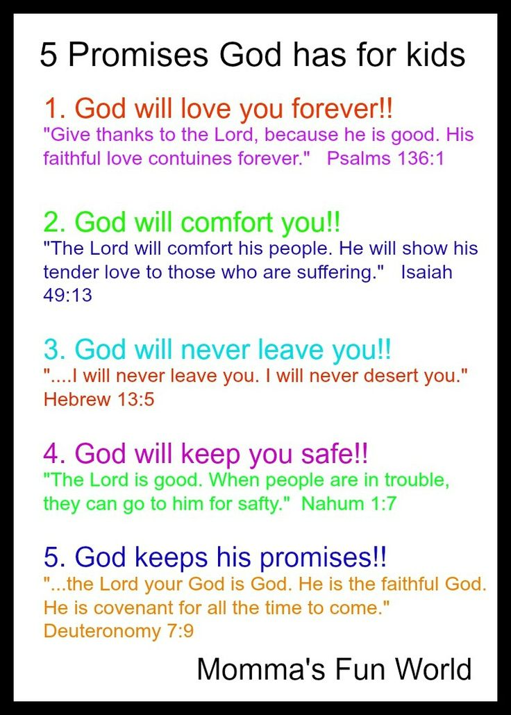 Momma's Fun World: Teaching the promises of God to Kids- going to make this and put it in the play room, Love this!