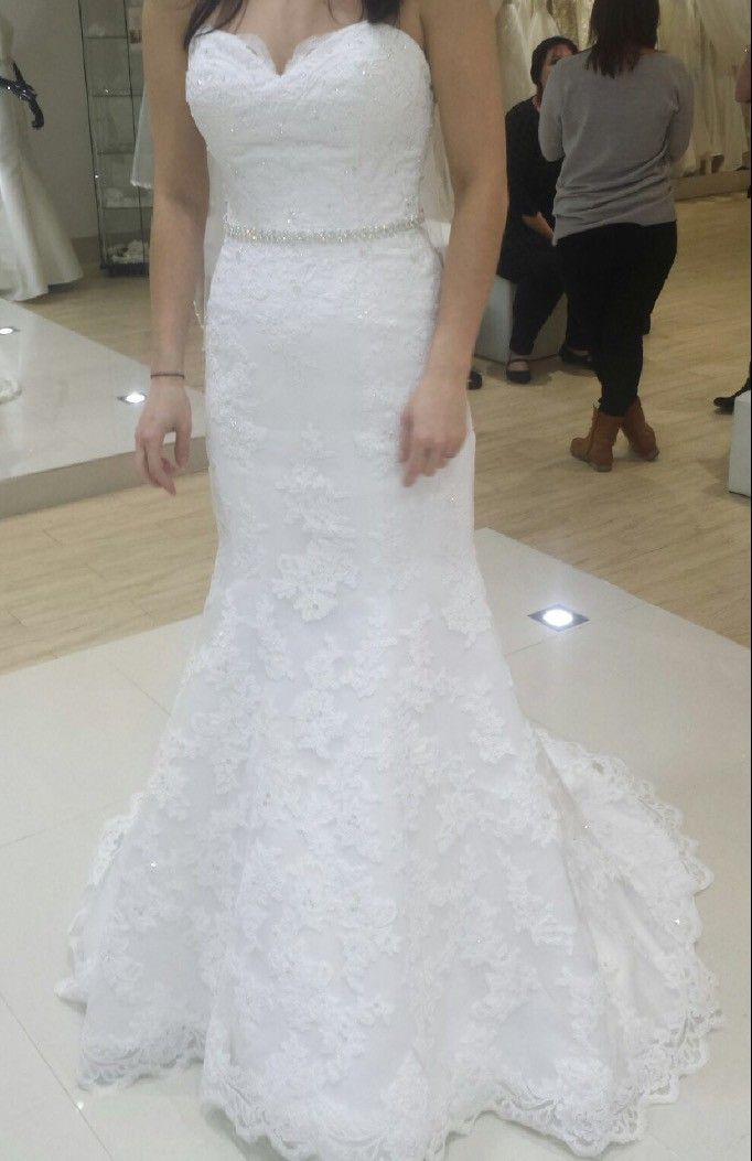 I am selling my Mia Solano wedding dress as it seems a waste to put it in a box when another bride could enjoy it.   I wore this dress in November ...