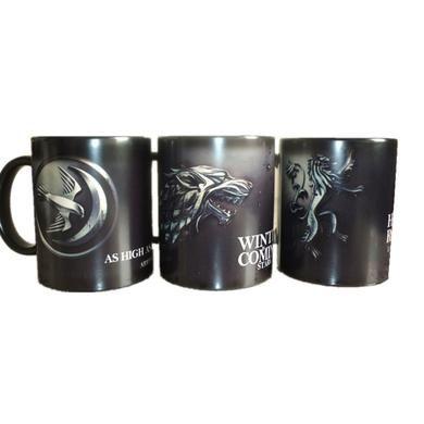 Game of thrones caneca da mudança da cor de café engraçado impresso drinkware copos e canecas de cerâmica