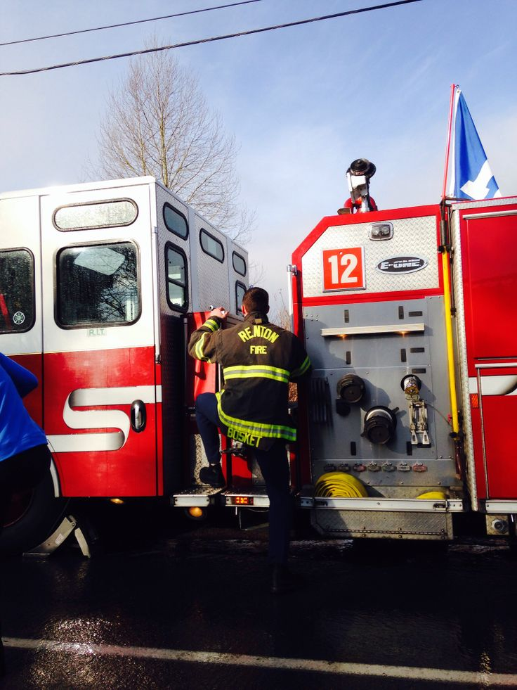 12 th man fire truck! Awesome job Renton fire department!